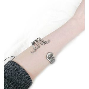 Jewelry - Handmade bent 1971 stainless steel fork bracelet